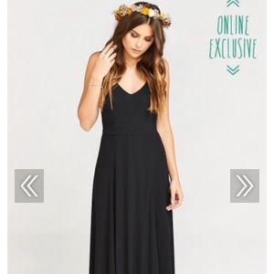 Show me your mumu black bridesmaid dress